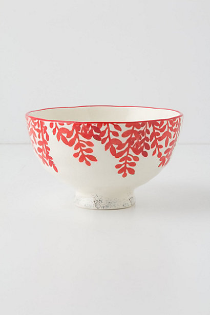 Evenings in Quito Bowl. Color: Red Motif. Anthropologie