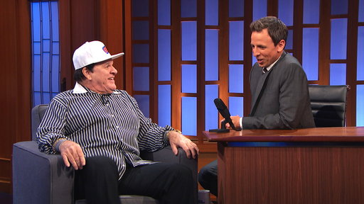 "Video: Pete Rose Talks Baseball, Willie Mays, If He Thinks He'll Be Reinstated on ""Late Night with Seth Meyers"""
