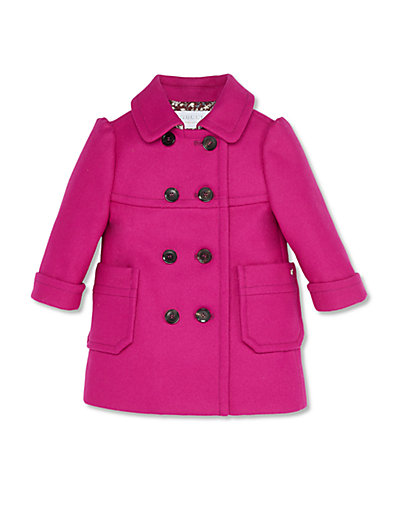 Gucci Infant's Double-Breasted Coat in Magenta