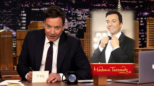 "Watch Jimmy Fallon pen thank you notes to The Final Four, One Direction, the movie Get Hard, Pope Francis, garage sales, acoustic guitars, James Corden, ""The Late Late Show"" host; Madame Tussauds and adults on swing sets on the Friday March 27th episode of ""The Tonight Show""."