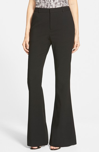 cupcakes and cashmere 'Avalon' Flare Pants in Black