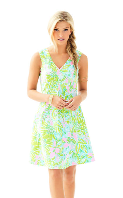 Lilly Pulitzer DAHLIA FIT & FLARE DRESS Multi Coconut Jungle fit and flare dresses kentucky derby