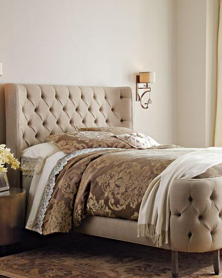 candace rose Haute House Linen Larkspur Queen Bed Pearl Neiman Marcus bedroom and bath sale candie anderson