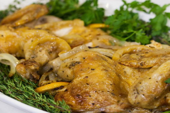 """Watch the Barefoot Contessa Ina Garten show Matt Lauer how to make delicious skillet-roasted lemon chicken from her new cookbook """"Cooking For Jeffrey"""" (based on her husband Jeffrey's favorite recipes) on the Thursday, December 15, 2016 episode of the Today show."""