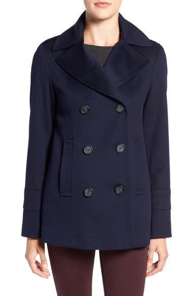 Fleurette Wool Peacoat (Nordstrom Exclusive) Midnight Blue double breasted coats