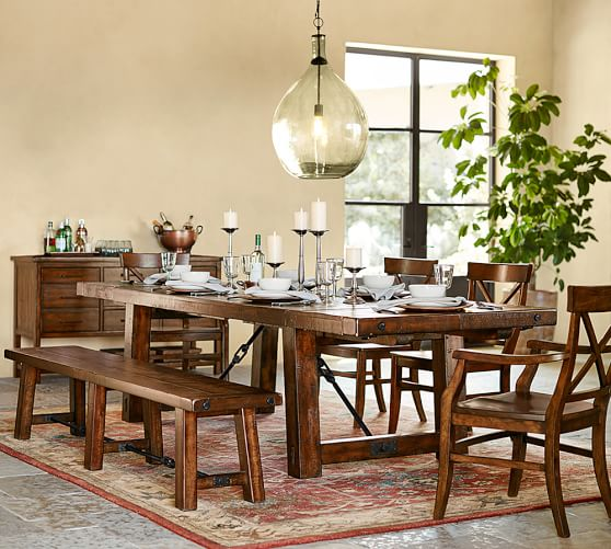 Pottery Barn BENCHWRIGHT EXTENDING DINING TABLE pottery barn premier event sale