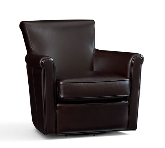 2017 Pottery Barn Presidents Day Premier Event Furniture  : Pottery Barn IRVING LEATHER FURNITURE Swivel Armchair Storage Ottoman Coffee Leather from candieanderson.com size 558 x 501 jpeg 14kB