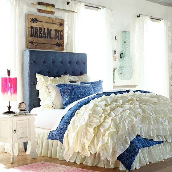 Junk Gypsy and Pottery Barn Teen Blue Jean Headboard