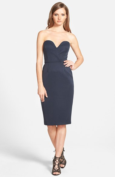 Finders Keepers the Label 'Delirium' Strapless Sheath Dress in Blueberry