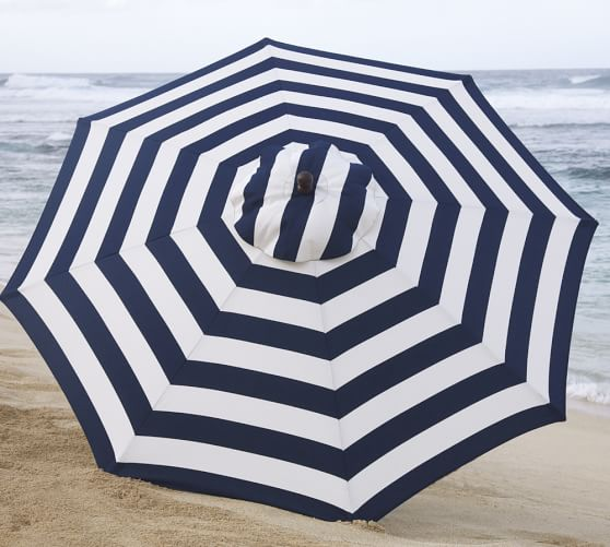 ROUND MARKET UMBRELLA - STRIPE Pottery Barn