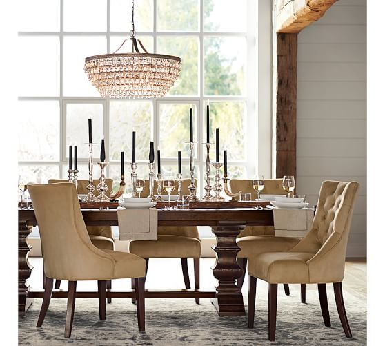 Pottery Barn BANKS EXTENDING DINING TABLE  pottery barn dining furniture sale