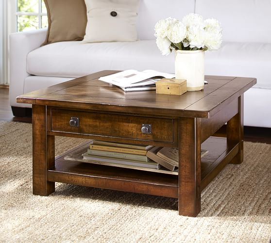 Pottery Barn BENCHWRIGHT SQUARE COFFEE TABLE pottery barn premier event sale