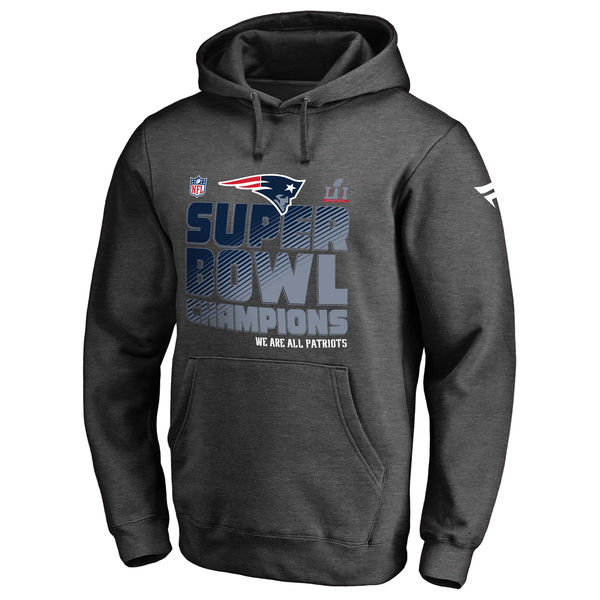 Pro Line by Fanatics Branded New England Patriots Charcoal Super Bowl LI Champions Trophy Collection Locker Room Pullover Hoodie
