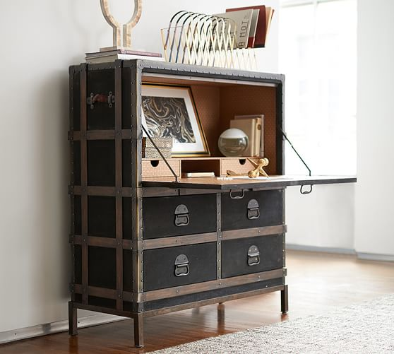 pottery barn ludlow trunk secretary desk pottery barn home office furniture sale