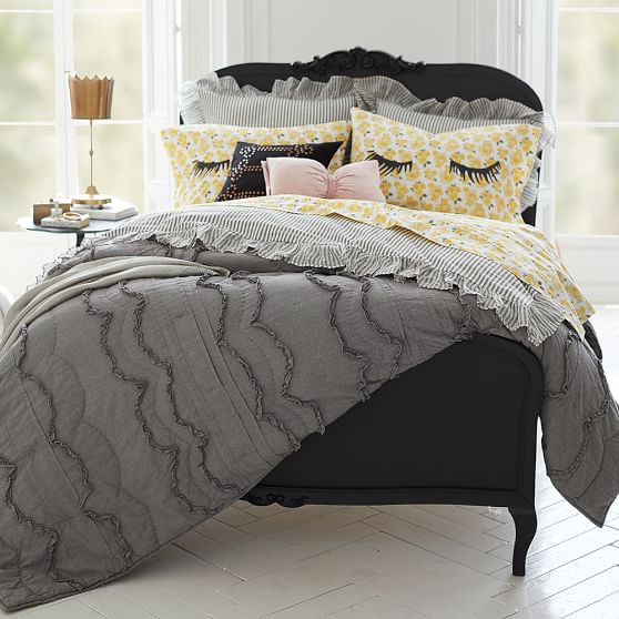The Emily & Meritt Scallop Ruffle Quilt + Sham PBteen buy more save more sale