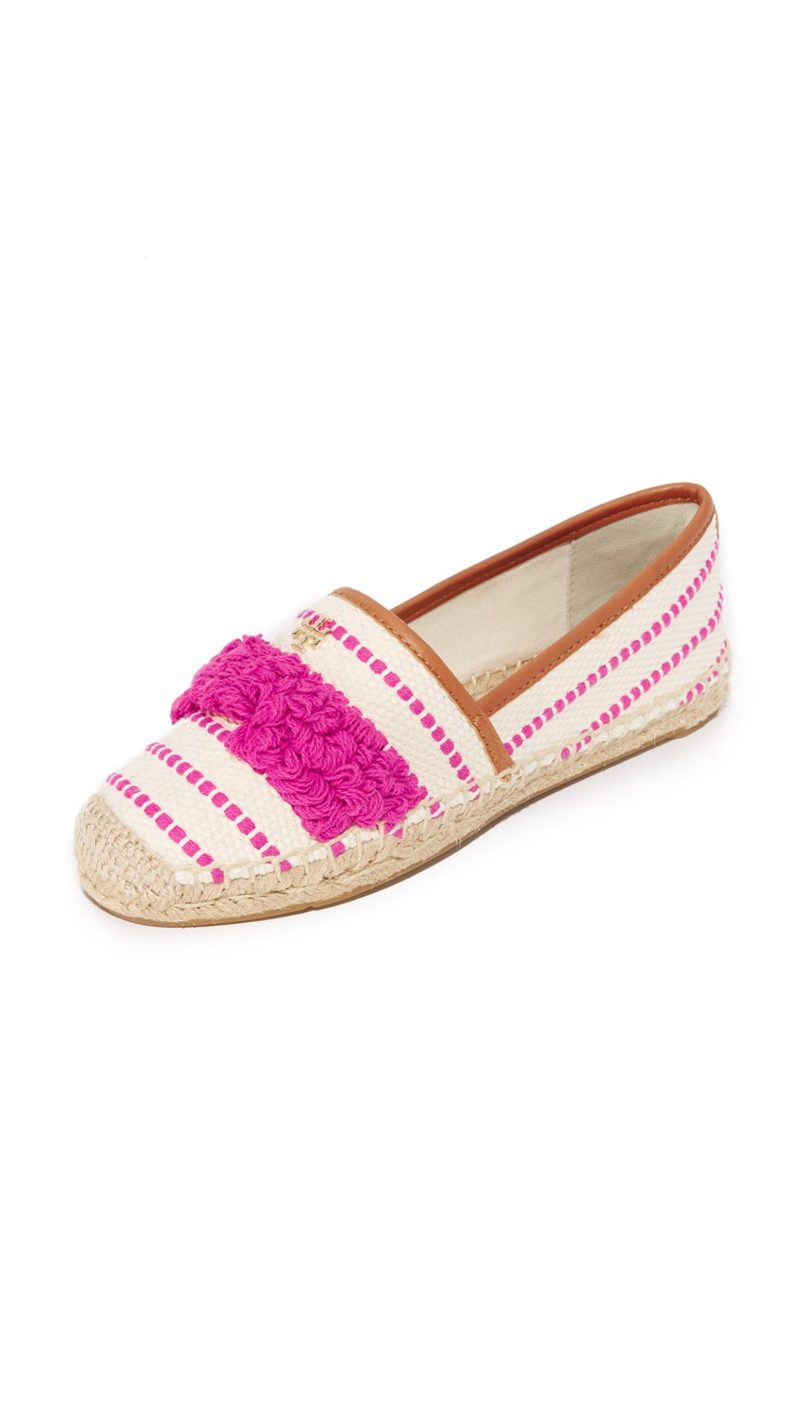 Tory Burch Shaw Fringe Espadrilles Hibiscus Flower Royal Tan Shopbop sale