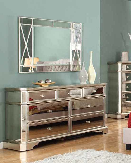 Fairtown 7 Drawer Dresser with Mirror mirrored dressers 2018