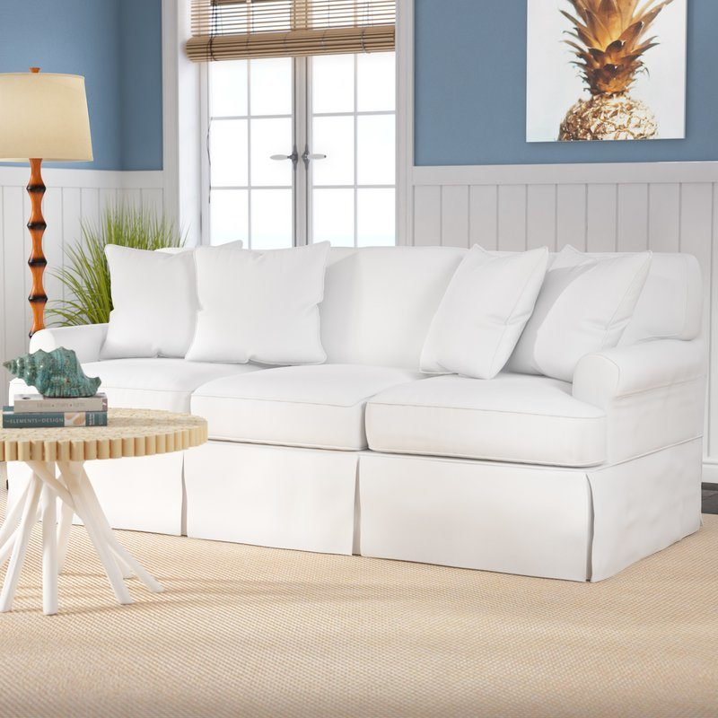 Coral Gables Slipcovered Sofa Warm White slipcovered sofas best