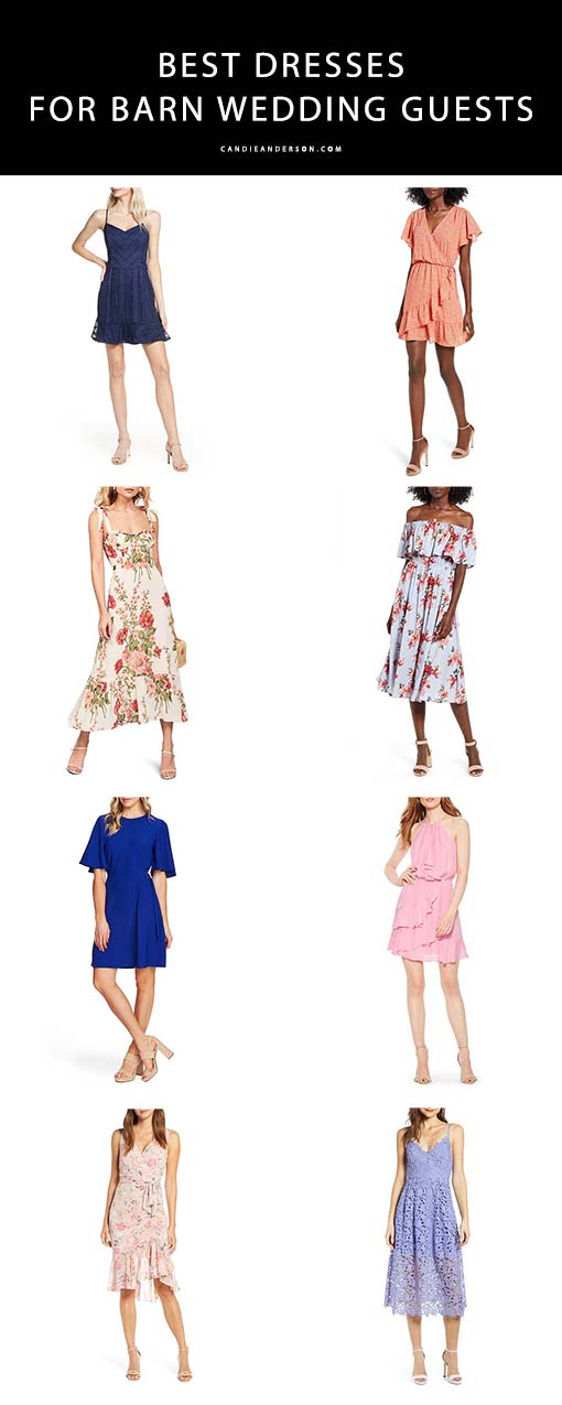 Style expert and fashion blogger, Candie Anderson of the blog Candieanderson.com has the scoop on 21 of the best dresses for barn wedding guests. They're perfect for women of all ages.