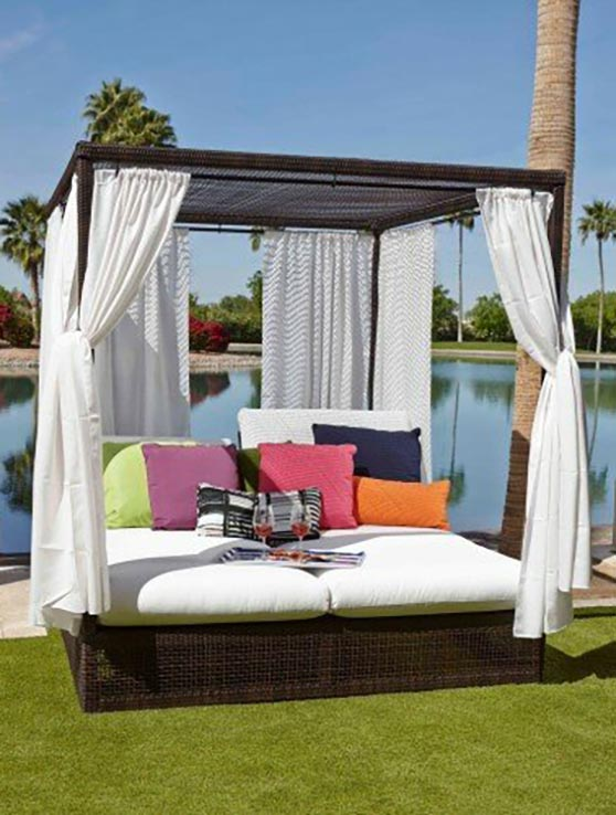 Woodard Montecito Patio Daybed with Cushions outdoor daybeds back patios