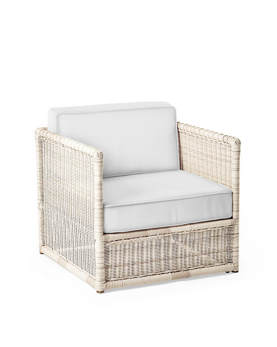 Serena and Lily PACIFICA LOUNGE CHAIR - DRIFTWOOD outdoor wicker chairs