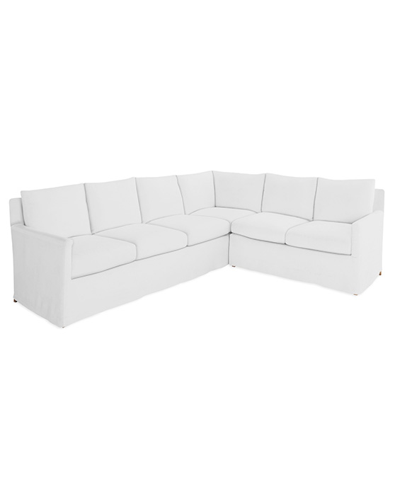 Serena and Lily Spruce Street Slipcovered L-Sectional – Right-Facing neutral slipcover sectionals