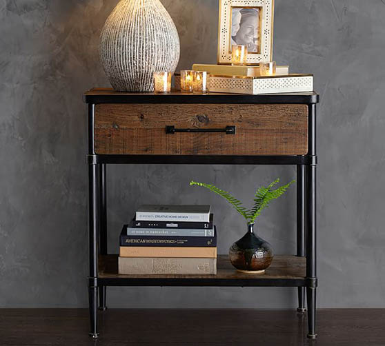 "Pottery Barn Juno 27"" Reclaimed Wood Nightstand Reclaimed Pine modern nightstands bedroom"