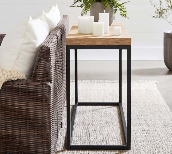 """Pottery Barn Malcolm Indoor/Outdoor 71"""" Outdoor Console Table rustic console tables"""