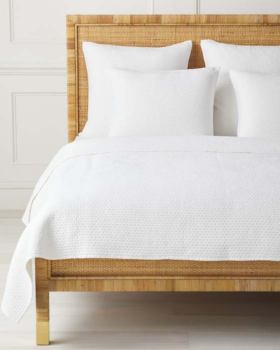 Serena and Lily Westwood Quilt White Chambray Cotton summer quilts