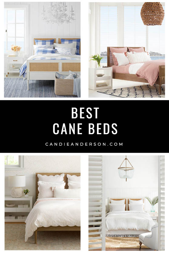 Cane beds are a hot interior design trend and a must for the bedroom! Lifestyle expert, journalist and interior design blogger Candie Anderson of candieanderson.com has the scoop on 24 of the best cane beds in every top interior design style and trend.